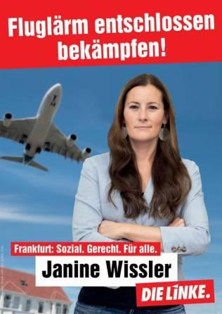 Fluglärm entschlossen bekämpfen Wahlplakat